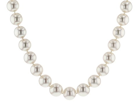 white cultured south sea pearl strand 14k yg strand necklace 12-13.5