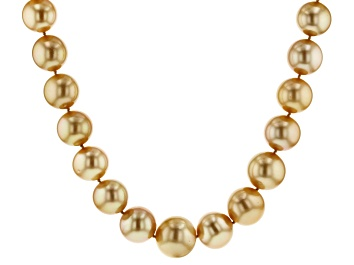 Picture of 14k yg 13-17mm golden cult south sea pearl strand necklace
