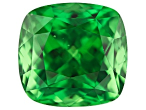 Tsavorite Campbell Bridges Collection 8.98x8.55x7.05mm rectangular cushion 4.51ct