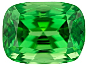 Tsavorite Campbell Bridges Collection 10.64x7.98x6.89mm rectangular cushion 5.11ct