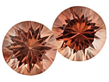 Picture of Oregon Sunstone Matched Pair of 6mm Round Quantum Cut 1.50ctw