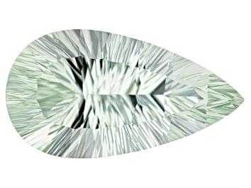 Picture of Prasiolite 27.75x14.8x10.61mm Pear Shape Quantum Cut 19.34ct