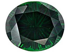 Chrome tourmaline 16.40x13.77x9.26mm quantum cut oval 13.09ct