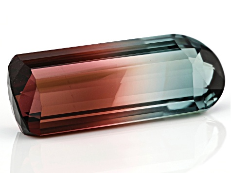 Parti-Color Tourmaline 28.10x8x7.95mm Shield Shape 21.54ct