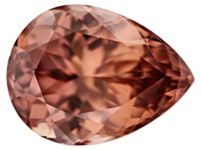 Cinnamon Color Zircon 13.75x10.41x6.90mm Pear Shape 8.68ct