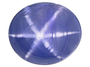Color Shift Star Sapphire Untreated 15.71x13.40x8.71 Oval Cabochon 8.56ct