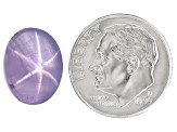 Pale Lavender Star Sapphire Untreated 13.30x10.29x6.60mm Oval Cabochon 10.22ct
