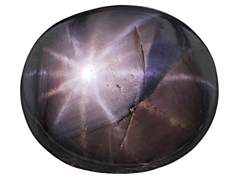 Gray 12-Ray Star Sapphire Untreated 13.18x11.18x6.22mm Oval Cabochon 9.47ct