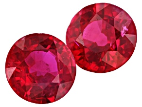 Ruby 5mm Round Matched Pair 1.24ctw