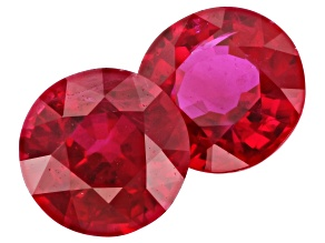 Ruby 5mm Round Matched Pair 1.22ctw