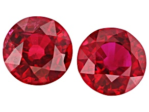 Ruby 5mm Round Matched Pair 1.34ctw