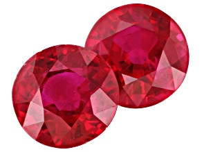 Ruby 5mm Round Matched Pair 1.29ctw