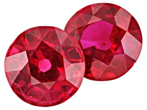 Ruby 5mm Round Matched Pair 1.18ctw