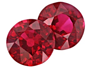 Ruby 5mm Round Matched Pair 1.15ctw