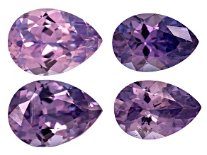 Purple Sapphire Untreated Pear Shape Set 2.67ctw