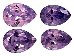 Purple Sapphire Untreated Pear Shape Set 2.67ctw