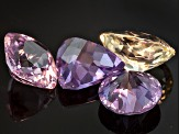 Multi-Color Sapphire Untreated Mixed Shape Set 4.39ctw