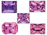 Multi-Color Sapphire Untreated Mixed Shape Radiant Cut 3.57ctw