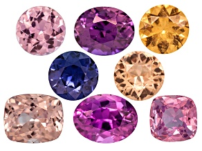 Multi-Color Sapphire Untreated Mixed Shape Set 4.44ctw