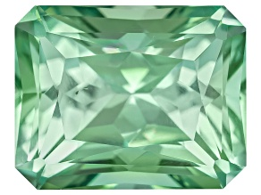 Green Tourmaline Untreated 7.85x6.28mm Rectangular Octagonal Radiant Cut 1.90ct