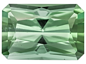 Green Tourmaline Untreated 8.75x6mm Rectangular Octagonal Radiant Cut 1.99ct