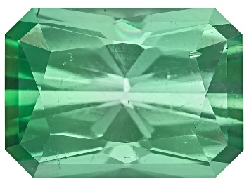 Picture of Green Tourmaline Untreated 7.25x5.2x3.92mm Rectangular Octagonal Radiant Cut 1.25ct