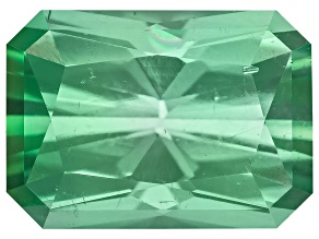 Green Tourmaline Untreated 7.25x5.2x3.92mm Rectangular Octagonal Radiant Cut 1.25ct