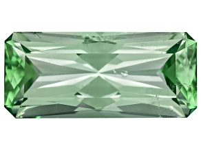 Green Tourmaline Untreated 9.74x4.4mm Rectangular Octagonal Radiant Cut 1.16ct