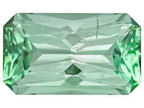 Green Tourmaline Untreated 8.12x4.8mm Rectangular Octagonal Radiant Cut 1.12ct