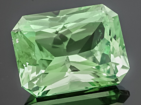 Green Tourmaline Untreated Rectangular Octagonal Radiant Cut 1.00ct