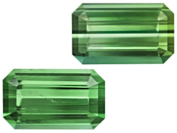 Picture of Green Tourmaline Untreated 10.3x6.1mm Emerald Cut Matched Pair 5.00ctw