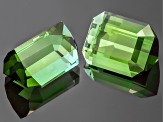 Green Tourmaline Untreated Emerald Cut Matched Pair 1.80ctw