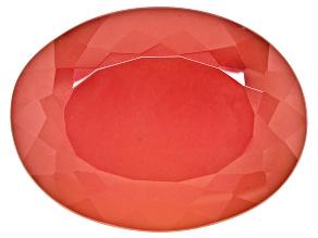 Genuine Bright Rhodochrosite Loose Gemstone 28.40ct 21.0x15.9x10.5mm Oval