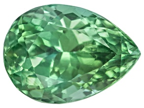 Green Tourmaline Untreated 11.04x8.09mm Pear Shape 3.63ct