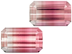 Tourmaline Untreated 9.2x5.6mm Emerald Cut Matched Pair 4.25ctw