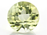 Yellow Tourmaline Untreated 10.92x10.87mm Round Checkerboard Cut 5.41ct