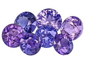 Multi-Color Sapphire Untreated Round Set 5.02ctw