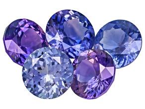Multi-Color Sapphire Untreated Round Set 2.92ctw
