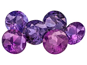 Set Of 6 Sri Lankan Untreated Fancy Sapphire 5.20ctw mm Varies Round Round Sizes And Shades Will Var