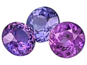 Multi-Color Sapphire Untreated 4.5mm Round Set 1.88ctw