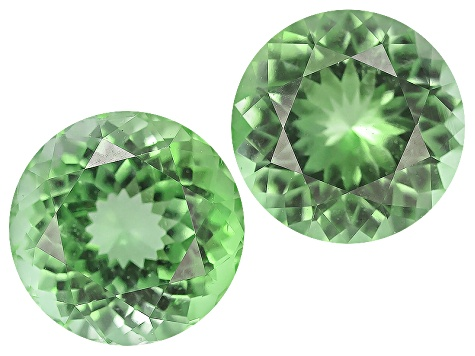 Green Tourmaline Untreated 6.5mm Round Matched Pair 2.09ctw