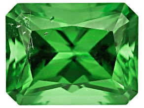 Green Tourmaline Untreated 6.69x5.22mm Rectangular Octagonal Radiant Cut 1.09ct