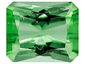 Green Tourmaline Untreated 7.47x6.29mm Rectangular Octagonal Radiant Cut 1.68ct