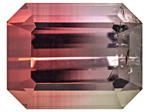 Bi-Color Tourmaline Untreated 11.21x8.75mm Emerald Cut 5.70ct