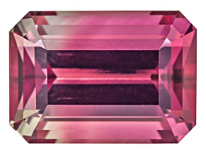 Bi-Color Tourmaline 11.35x8.16mm Emerald Cut 5.02ct