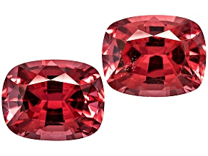 Red Spinel 6x5mm Rectangular Cushion Mixed Step Matched Pair 1.80ctw
