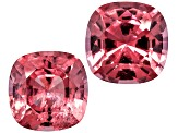 Pink Spinel 6mm Square Cushion Mixed Step Matched Pair 2.13ctw