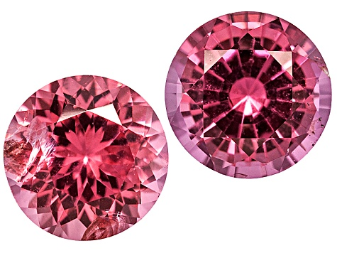 Red Spinel 4.5mm Round Brilliant Matched Pair .86ctw