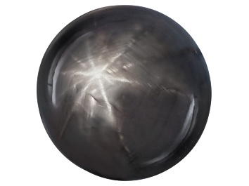 Picture of Black Star Sapphire 12.50x12.43x10.15mm Round Cabochon 15.11ct