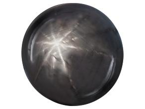 Black Star Sapphire 12.50x12.43x10.15mm Round Cabochon 15.11ct